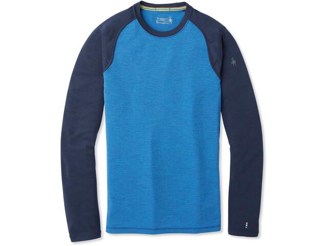 Smartwool Merino 250 Baselayer T-shirt à col ras-du-cou Homme, bright cobalt heather/deep navy